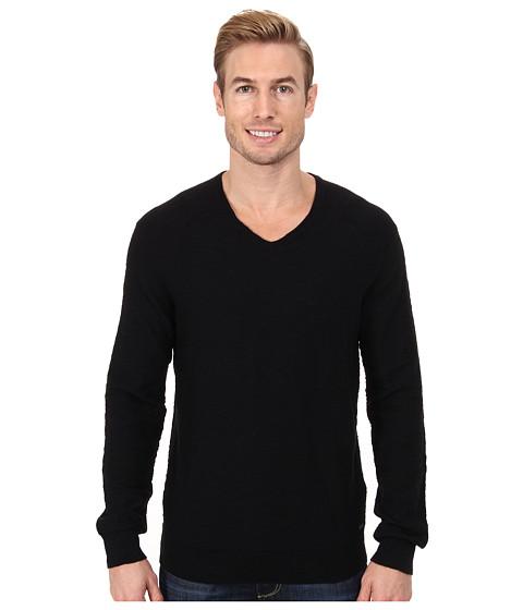 Calvin Klein Jeans - Slub V-Neck Sweater (Black) Men's Sweater