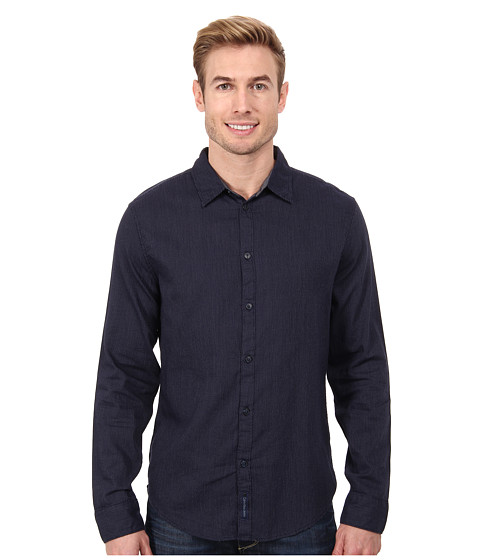 Calvin Klein Jeans - Micro Dot L/S Woven Shirt (Navy Armada) Men's Long Sleeve Button Up