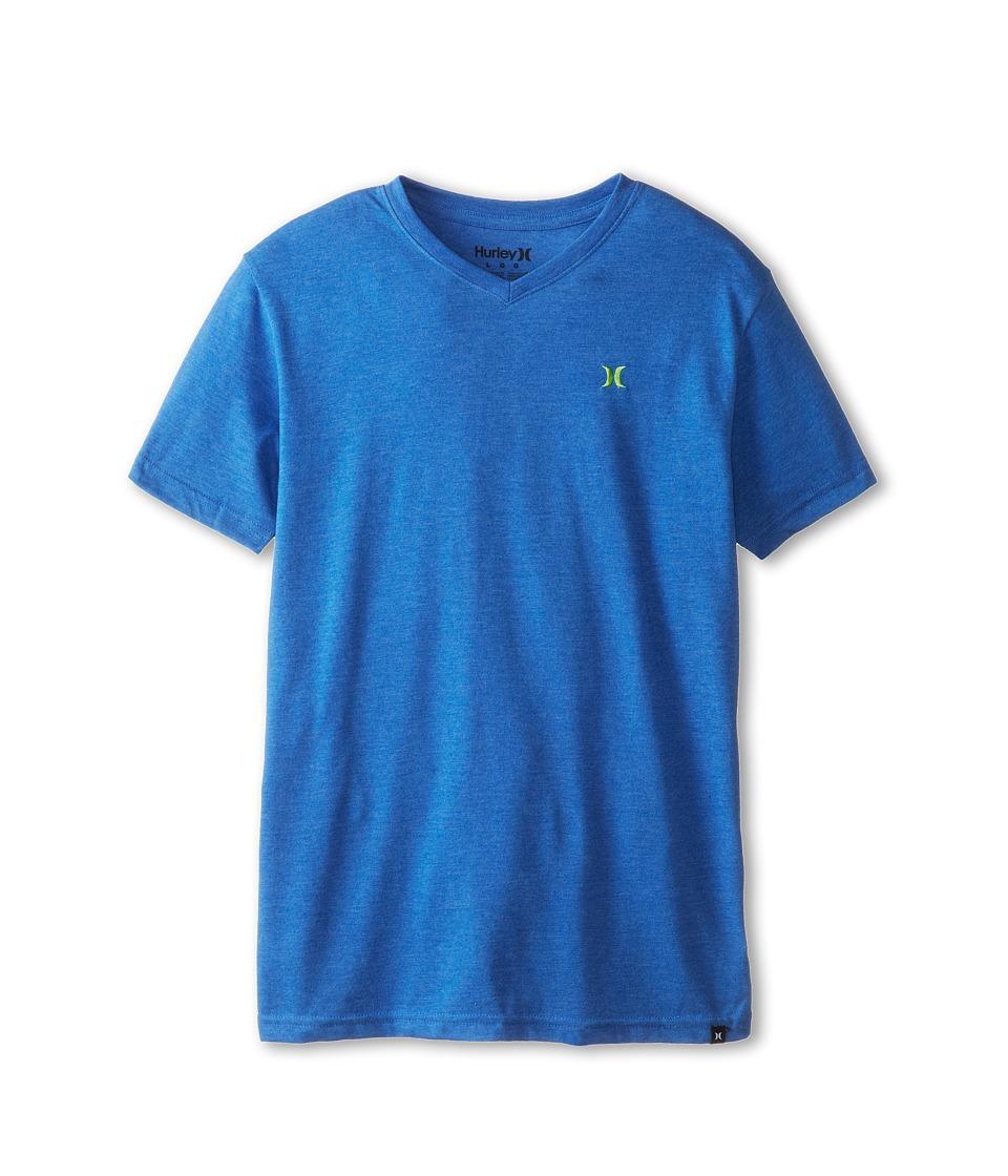 Hurley Kids Icon Premium Heather Tee Boys Short Sleeve Pullover (Blue)