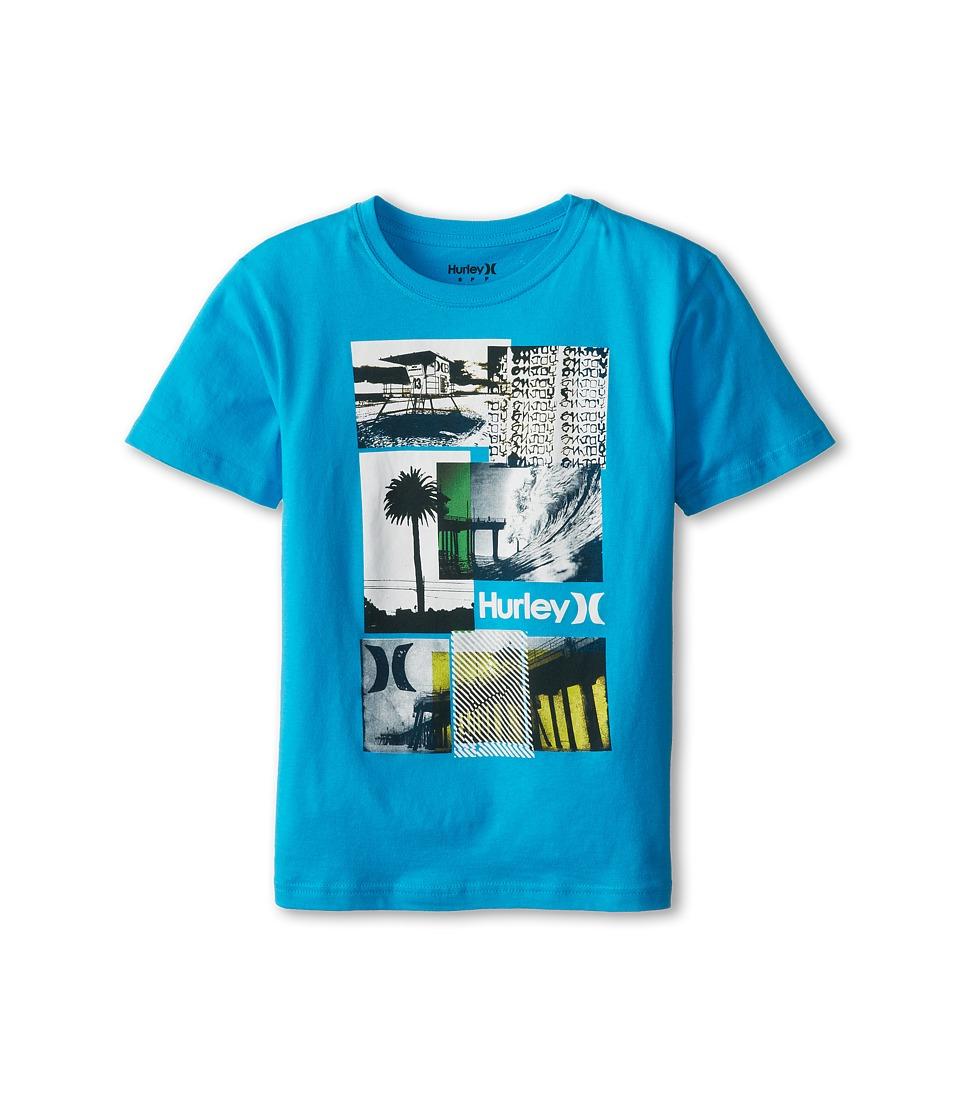 Hurley Kids Steez Tee Boys T Shirt (Blue)