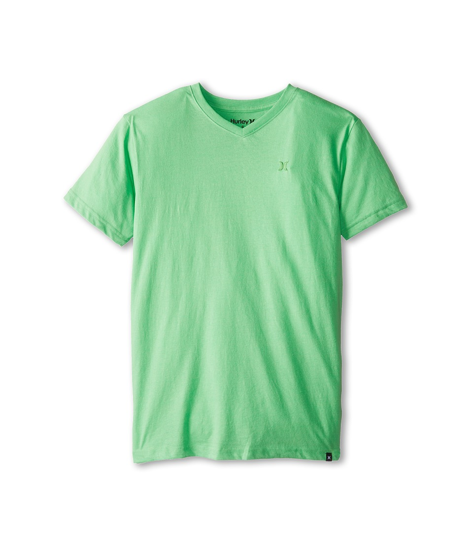 Hurley Kids Icon Premium Heather Tee Boys Short Sleeve Pullover (Green)