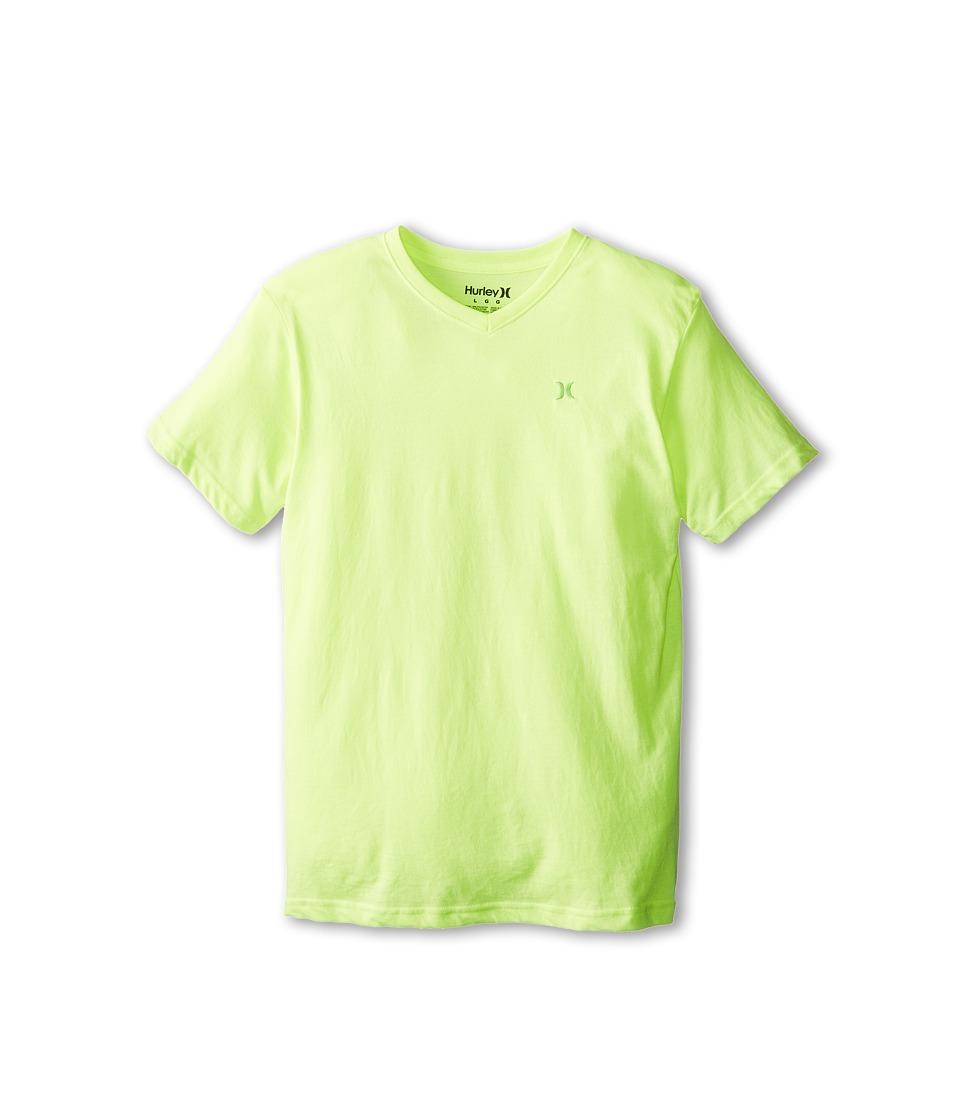 Hurley Kids Icon Premium Heather Tee Boys Short Sleeve Pullover (Yellow)