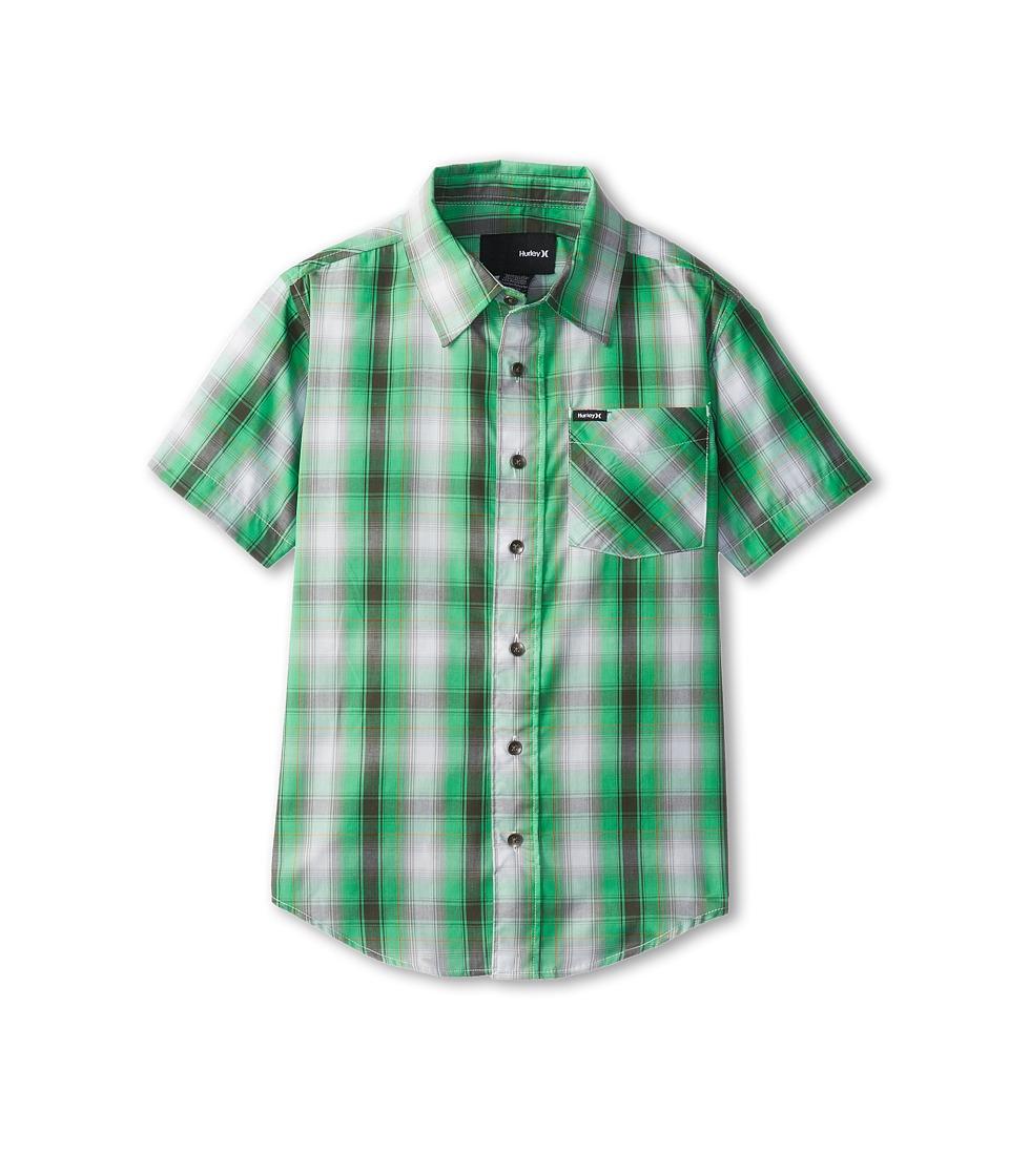 Hurley Kids Dalton S/S Woven Boys Short Sleeve Button Up (Green)