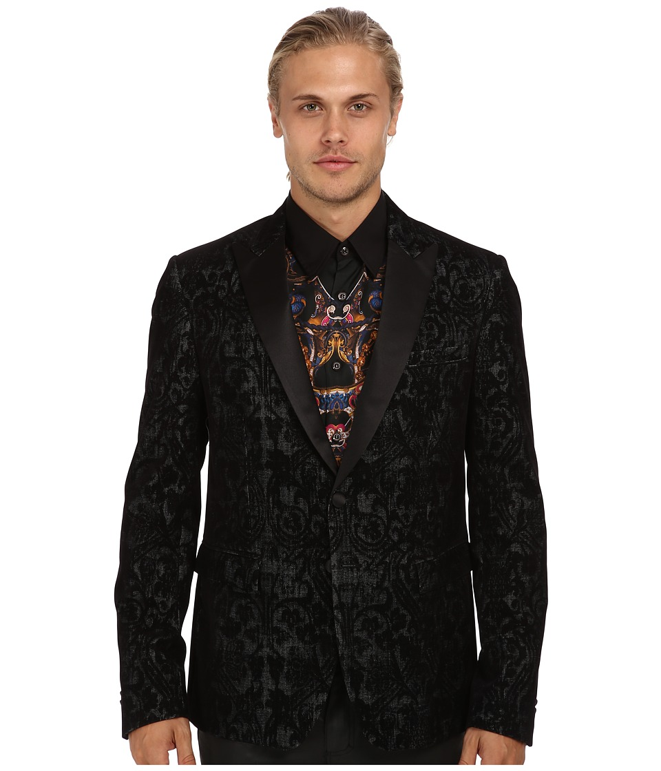 Just Cavalli - Patterned Blazer (Black) Men's Jacket
