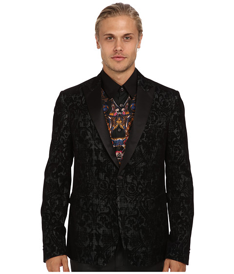 Just Cavalli - Patterned Blazer (Black) Men