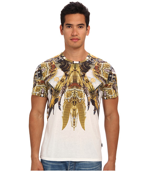 Just Cavalli - Gipsy Duel Print Tee (White) Men