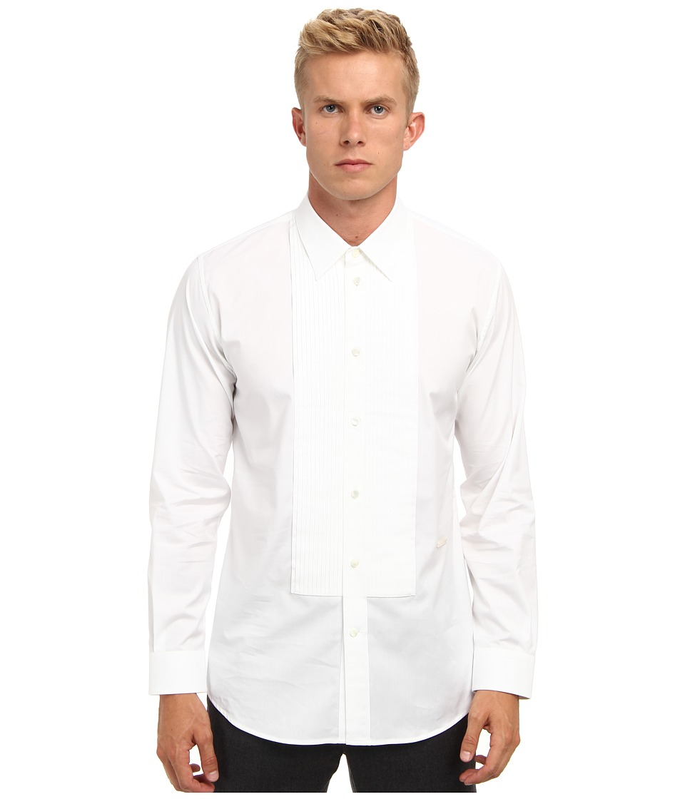 Marc Jacobs Runway Cotton Tuxedo Button Up White Mens Long Sleeve Button Up