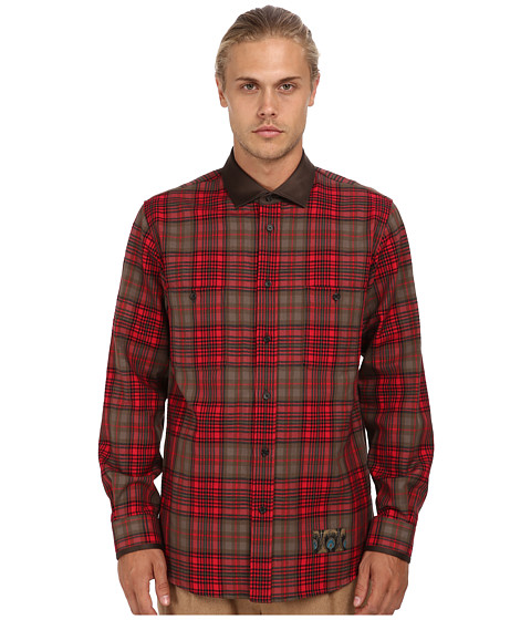 Marc Jacobs - Check Button Up (Red Check) Men's Long Sleeve Button Up
