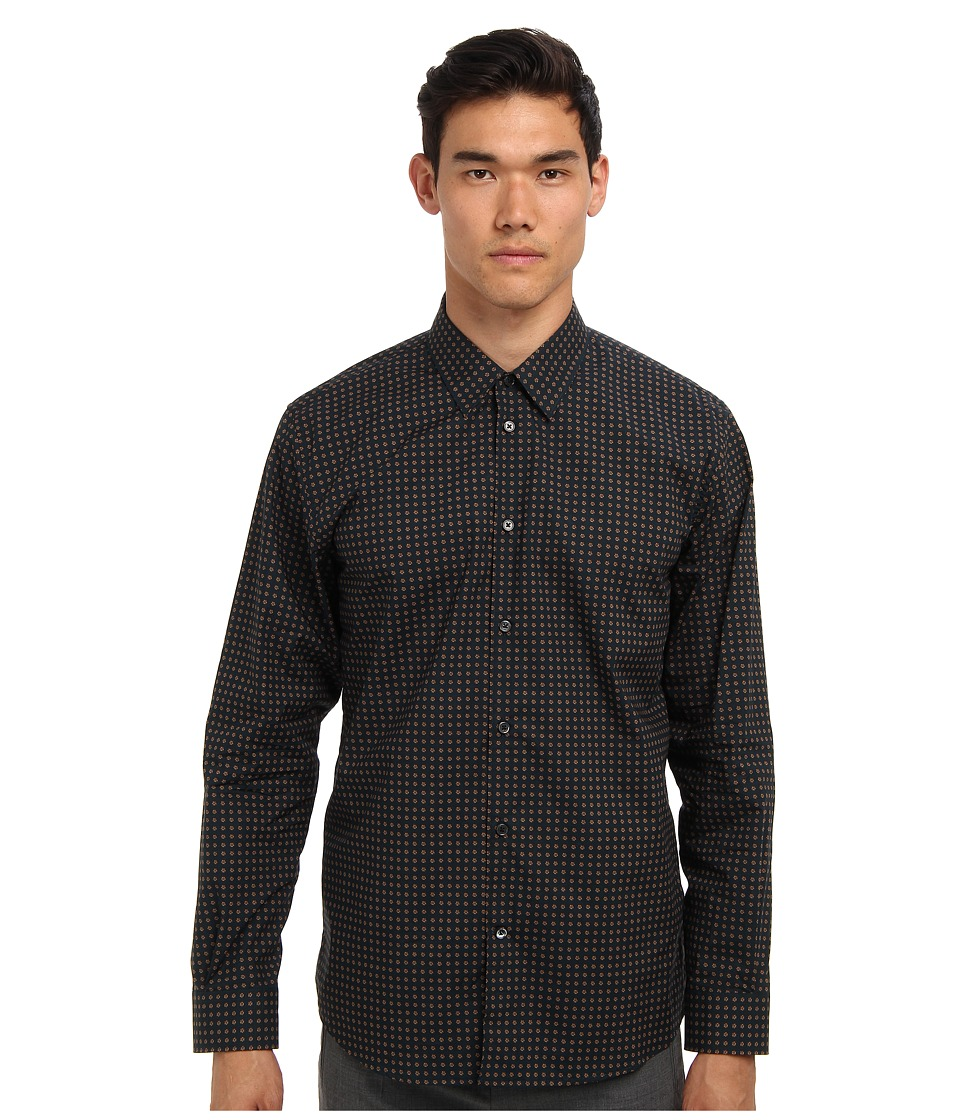 Marc Jacobs - Jacquard L/S Button Up (Navy Multi) Men's Long Sleeve Button Up