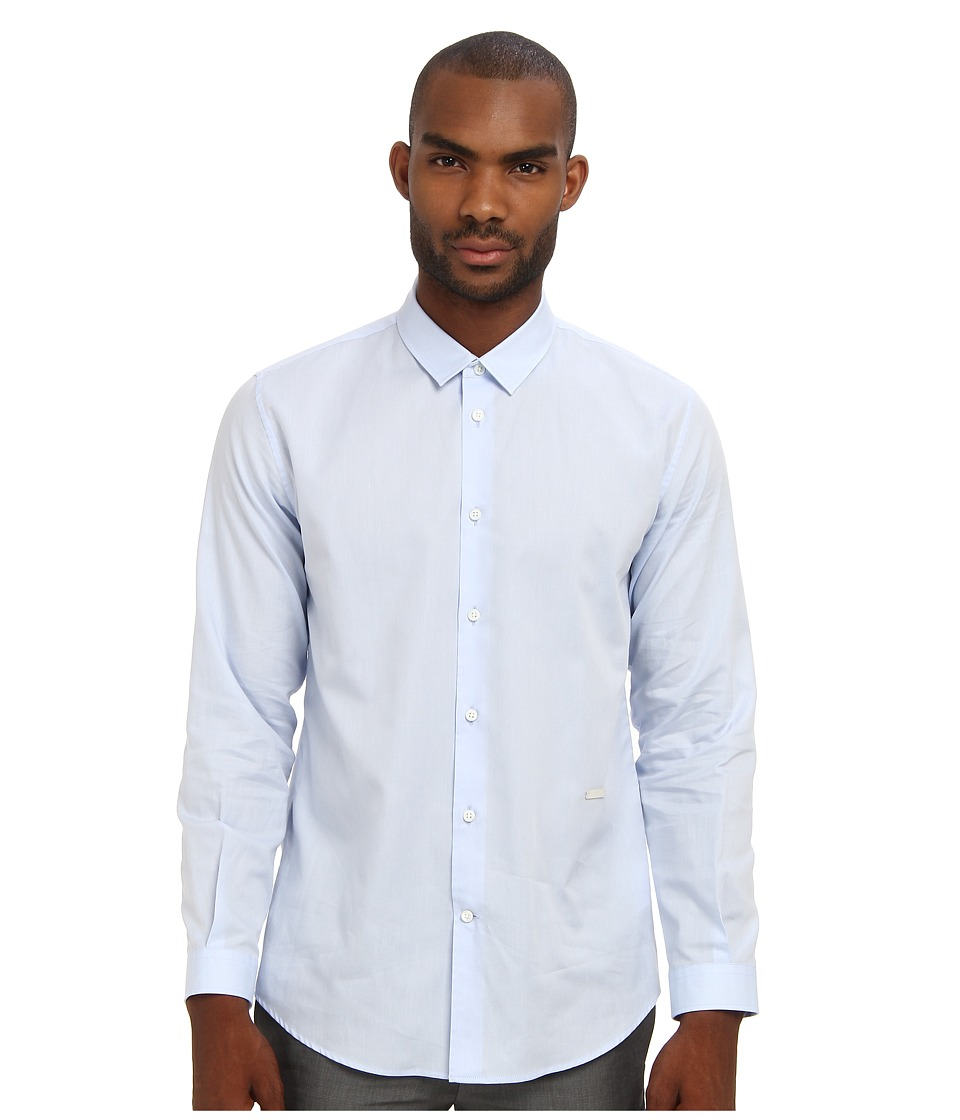 Marc Jacobs - Button Up Oxford (Pale Blue) Men's Long Sleeve Button Up