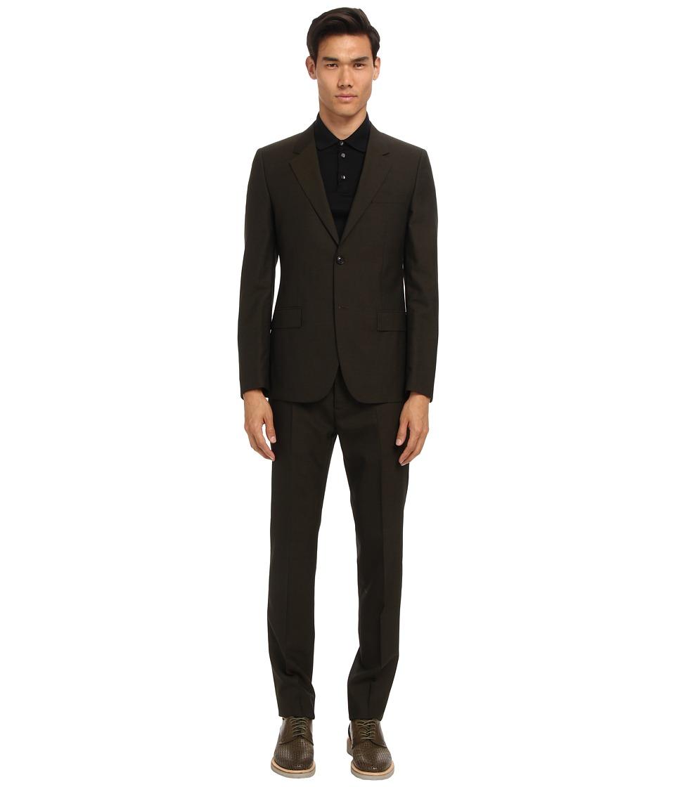 Marc Jacobs - Runway Suit (Olive) Men's Suits Sets