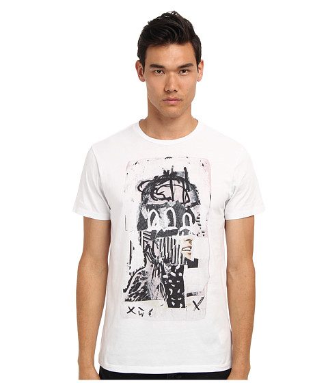 Marc Jacobs - Head Print Tee (White) Men's Short Sleeve Pullover