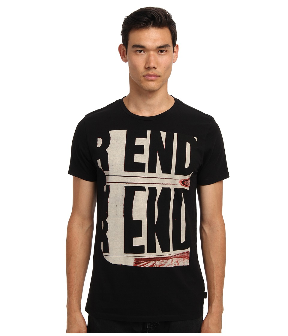 Marc Jacobs - End Print Tee (Black) Men's Short Sleeve Pullover