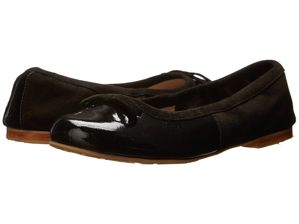 Elephantito - Milano Flats (Toddler/Little Kid/Big Kid) (Patent Black) Girls Shoes