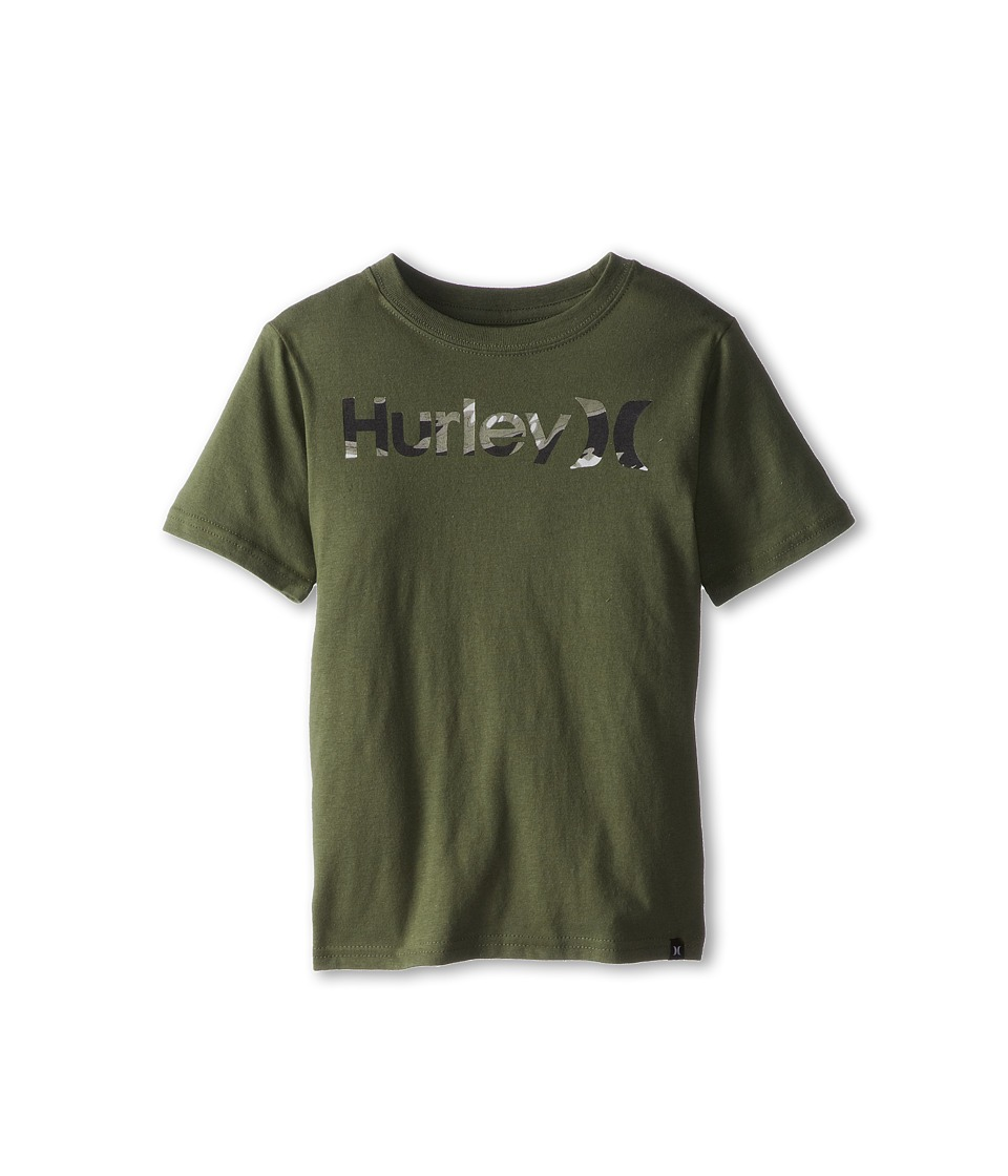 Hurley Kids OO Tiger Camo Tee Boys Short Sleeve Pullover (Olive)
