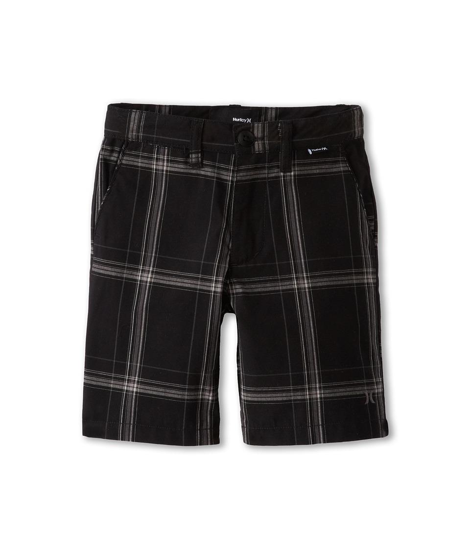 Hurley Kids Puerto Rico Plaid Short Boys Shorts (Black)