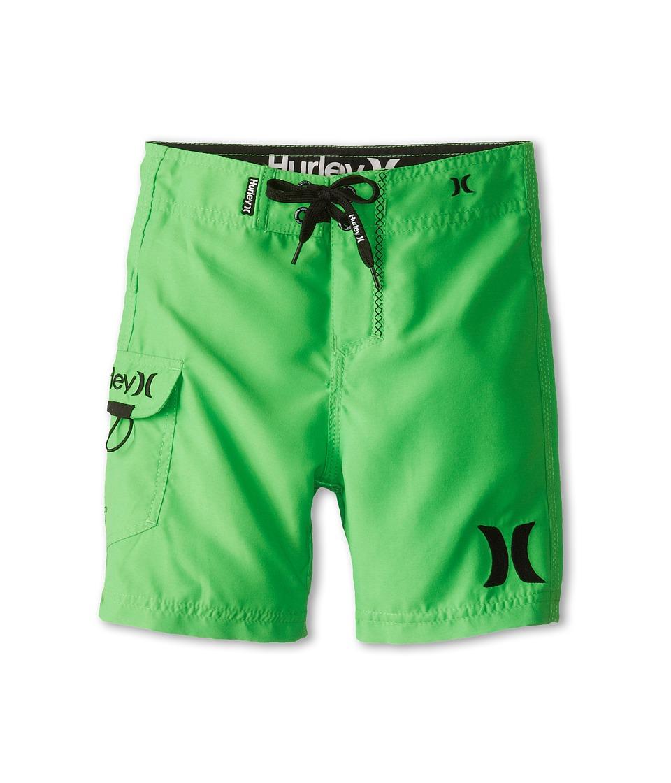 Hurley Kids One Only Boardshort Boys Swimwear (Green)