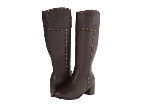 Fitzwell - Radar Extra Wide Calf (Brown Tumbled Napa Leather) Women's Zip Boots
