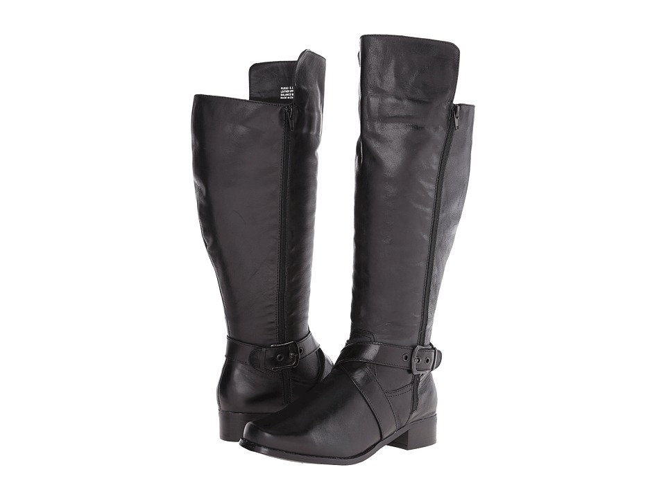 Fitzwell - Russo Wide Calf (Black Burnished Leather) Women's Boots