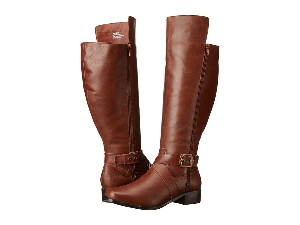 Fitzwell - Russo Wide Calf (Cognac Burnished Leather) Women