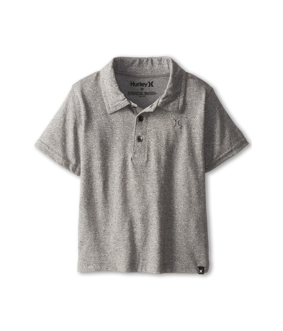 Hurley Kids Dialed Triblend Polo Boys Short Sleeve Pullover (Gray)