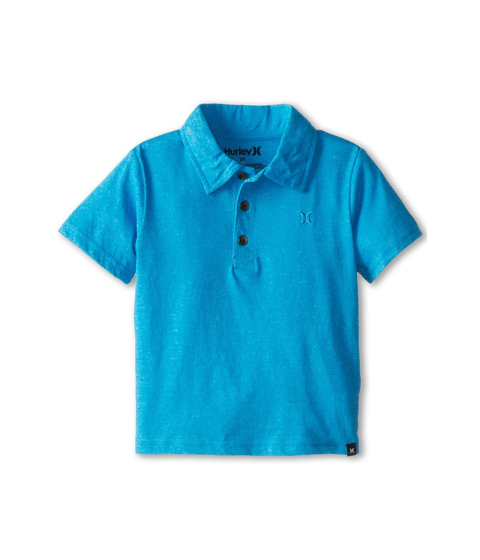 Hurley Kids Dialed Triblend Polo Boys Short Sleeve Pullover (Blue)