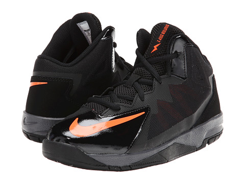 Nike Kids - Stutter Step 2 (Little Kid) (Black/Dark Grey/Hyper Crimson) Boys Shoes