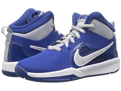 Nike Kids - Team Hustle D 6 (Little Kid) (Gym Blue/Volt/White) Boys Shoes