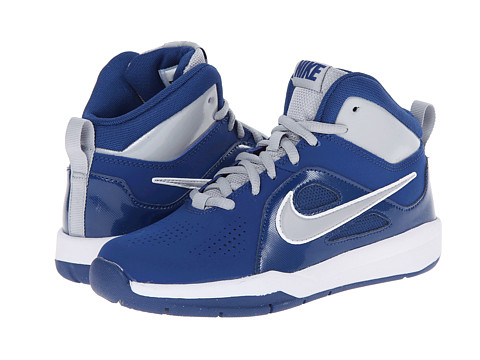 Nike Kids - Team Hustle D 6 (Big Kid) (Gym Blue/Volt/White) Boys Shoes