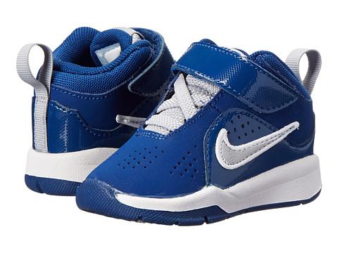Nike Kids - Team Hustle D 6 (Infant/Toddler) (Gym Blue/Volt/White) Boys Shoes