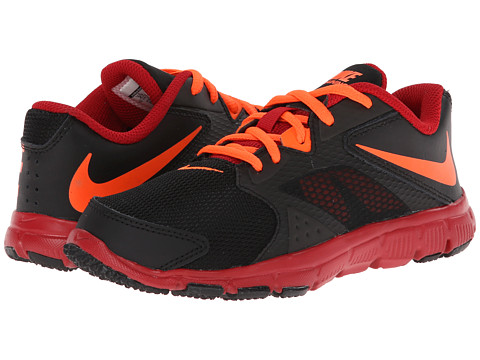 Nike Kids - Flex Supreme TR 3 (Little Kid/Big Kid) (Black/Hyper Crimson/Gym Red) Boys Shoes