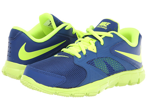 Nike Kids - Flex Supreme TR 3 (Little Kid/Big Kid) (Gym Blue/White/Volt) Boys Shoes