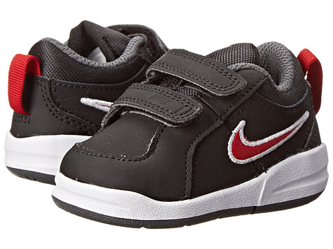 Nike Kids - Pico 4 (Infant/Toddler) (Black/Dark Grey/Gym Red) Kids Shoes