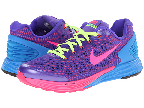Nike Kids - Lunarglide 6 (Big Kid) (Hyper Grape/Hyper Crimson/Photo Blue/Hyper Pink) Girls Shoes