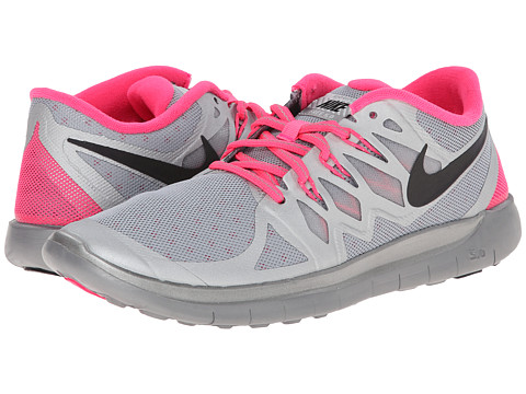 Nike Kids - Free 5.0 Flash (GS) (Big Kid) (Perfect Silver/Hyper Pink/Wolf Grey/Black) Girls Shoes