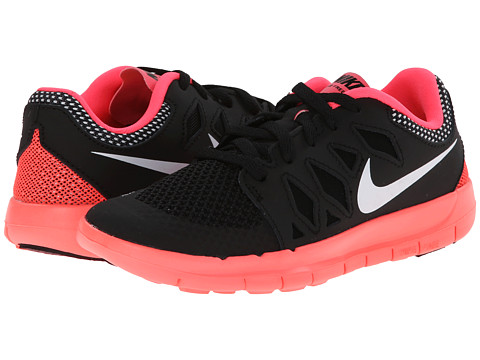 Nike Kids - Free 5 (Little Kid) (Black/Hyper Punch/White/White) Girls Shoes