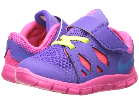 Nike Kids - Free 5 (Infant/Toddler) (Hyper Grape/Hyper Pink/Volt/Photo Blue) Girls Shoes