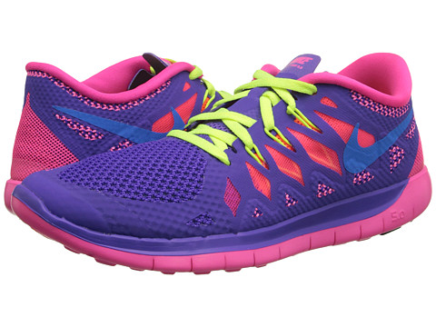 Nike Kids - Free 5.0 (Big Kid) (Hyper Grape/Hyper Pink/Volt/Photo Blue) Girls Shoes