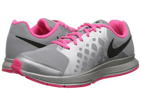 Nike Kids - Zoom Pegasus 31 Flash (GS) (Little Kid/Big Kid) (Reflect Silver/Hyper Pink/Wolf Grey/Black) Girls Shoes