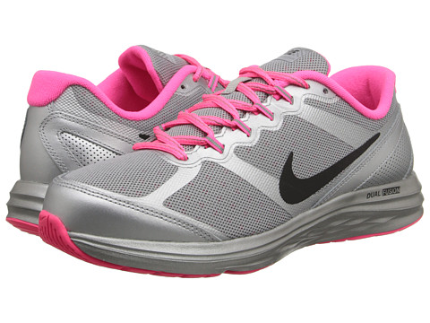 Nike Kids - Dual Fusion Run 3 Flash (GS) (Big Kid) (Reflect Silver/Hyper Pink/Pure Platinum/Black) Girls Shoes