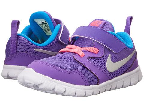 Nike Kids - Flex Experience 3 (Infant/Toddler) (Hyper Grape/Photo Blue/Hyper Pink/Metallic Silver) Girls Shoes
