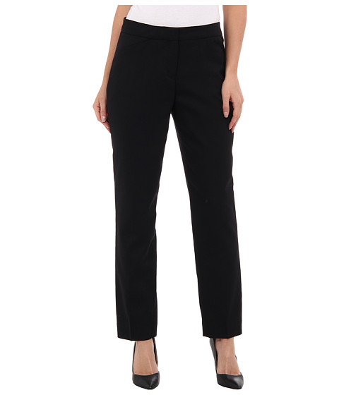 Pendleton - Petite Ultra 9 Stretch Worsted Slim Pant (Black Ultra 9 Stretch Worsted) Women