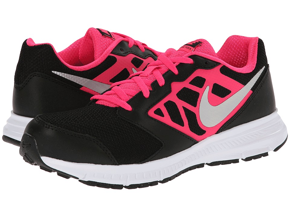 Nike Kids - Downshifter 6 (Little Kid/Big Kid) (Black/Hyper Pink/White/Metallic Silver) Girls Shoes