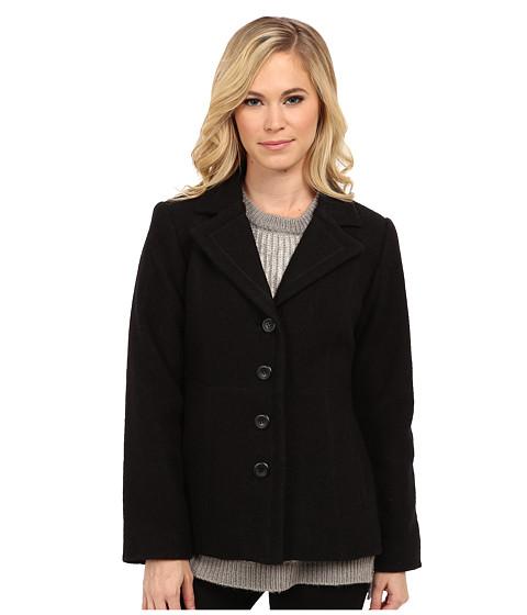 Pendleton - Petite Jane Boiled Wool Jacket (Black) Women's Jacket