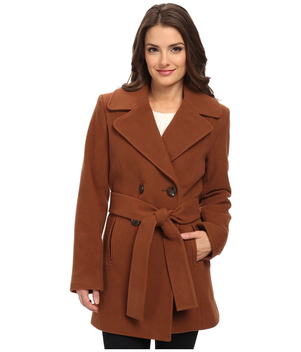 Pendleton - Petite Belted Trench Coat (Tortoise Shell) Women