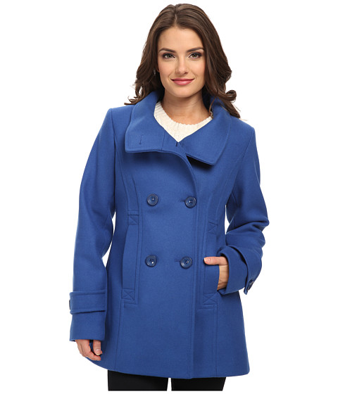 Pendleton - Petite Pea Coat (Dutch Blue) Women