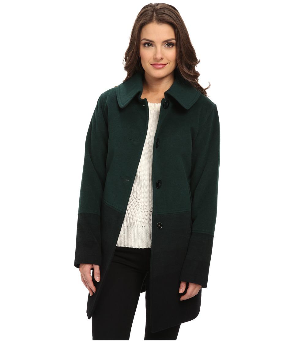 Pendleton - Petite Topper Coat (Green Ombre) Women