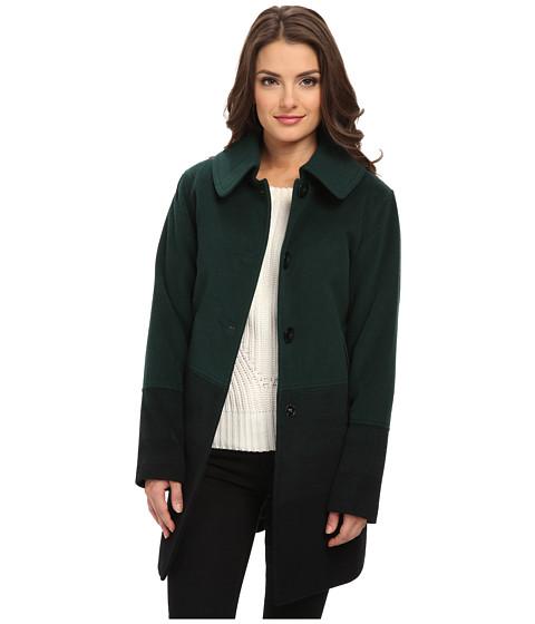 Pendleton - Petite Topper Coat (Green Ombre) Women's Coat