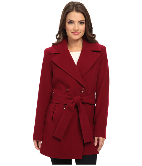 Pendleton - Petite Belted Trench Coat (Berry) Women's Coat