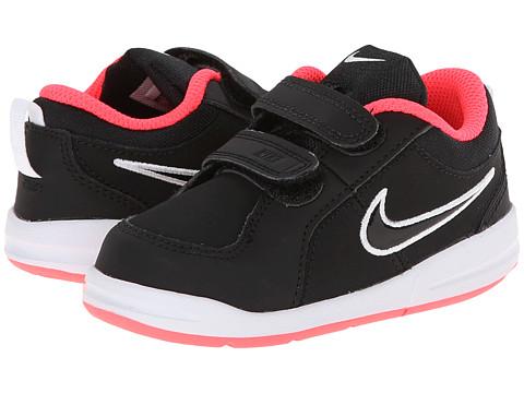 Nike Kids - Pico 4 (Infant/Toddler) (Black/Hyper Punch/White/Black) Girls Shoes